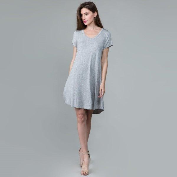 basic babe grey dress *Final Sale*