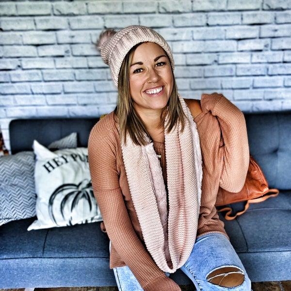 essie sherpa knit infinity scarf