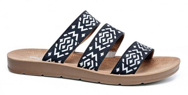 ATL - Black Aztec Dafne Sandals