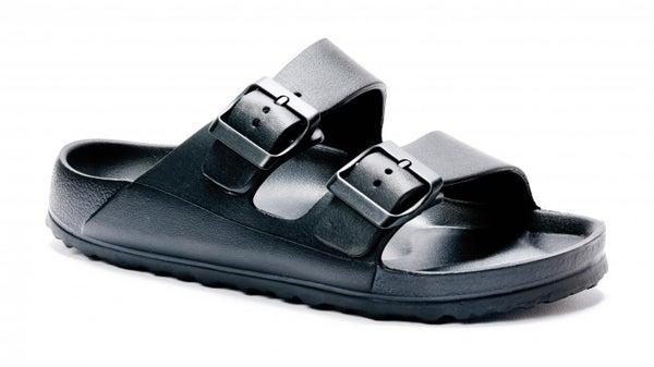 Black Waterslide Sandals