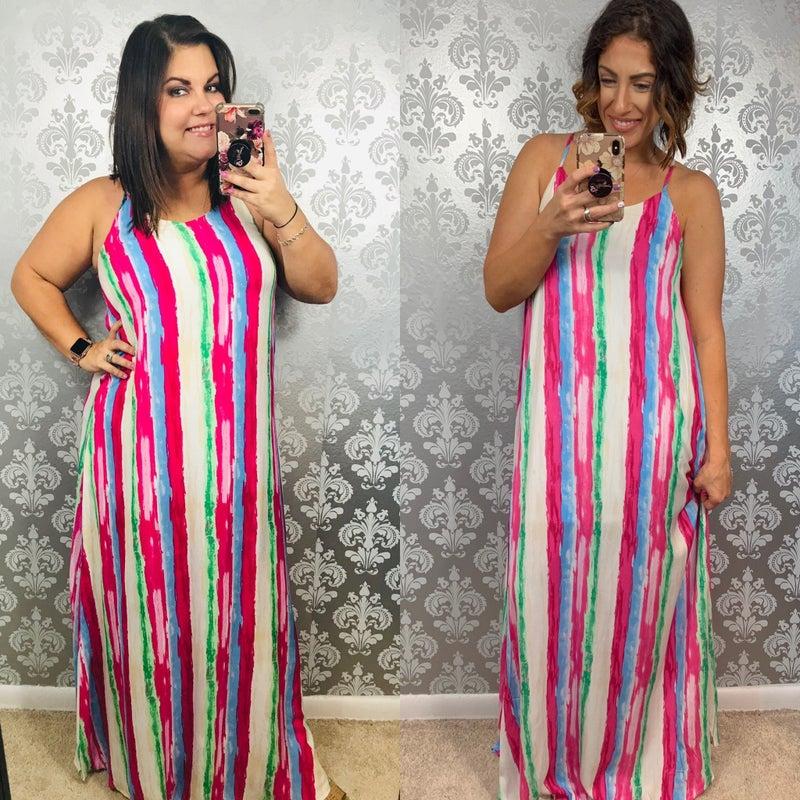 Sunshine and Rainbows Maxi Dress