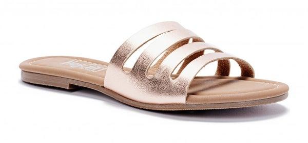 Rose Gold Bikini Flip Flops