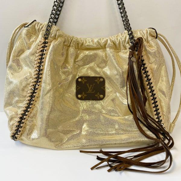 Gold Shiny LV Bag