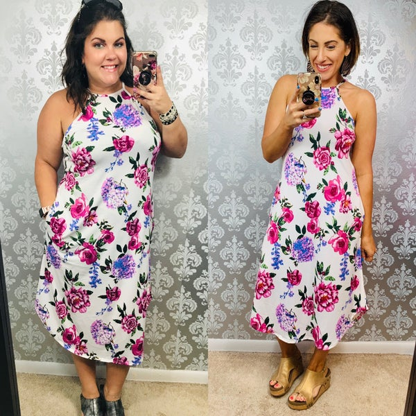 Life of The Party Dress Mauve