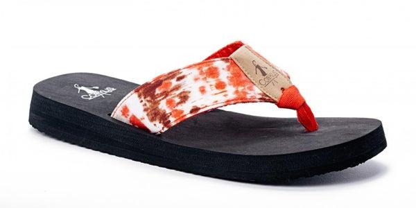 Red Bahama Mama Flip Flops