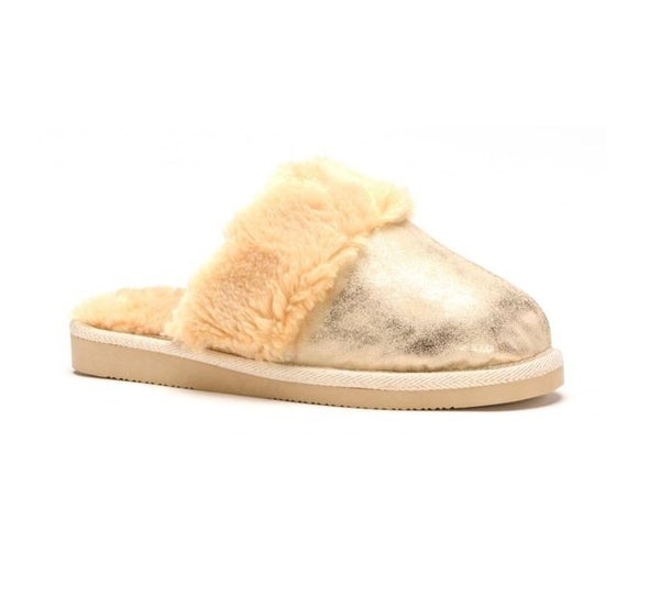 Gold Snooze Slippers
