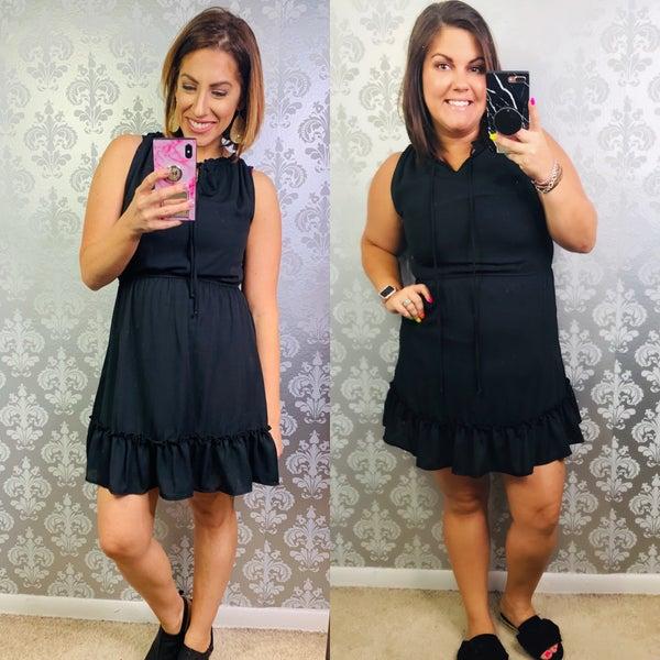 Claim to Fame Black Dress