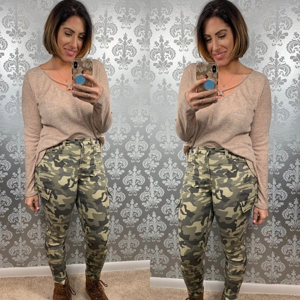 Kancan Cropped Camo Pants