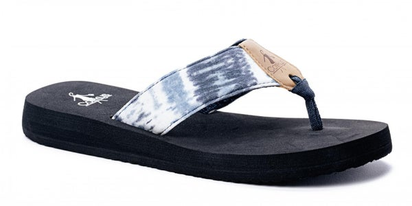 Blue Bahama Mama Flip Flops