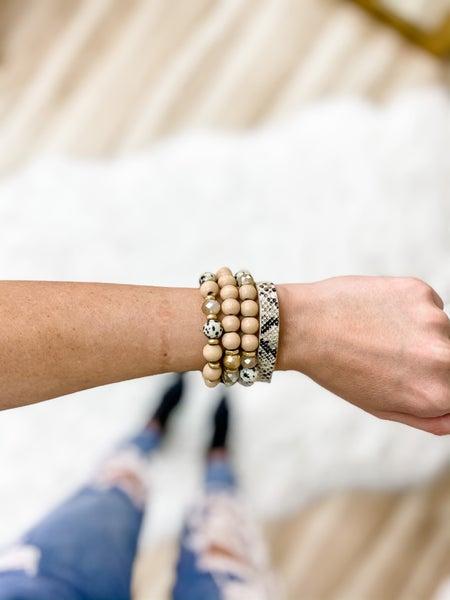 Nude Assorted Bead Bracelet Set