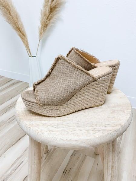 Tan Wedge Sandal