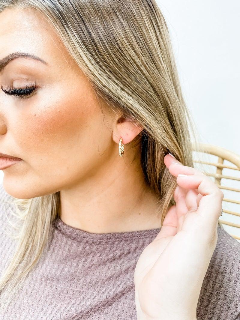 CZ Eternity Hoop Earrings