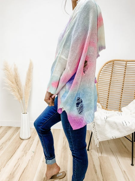 POL On Second Thought Tie Dye Sweater Top