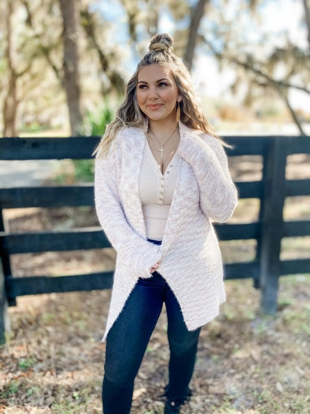 It's So Sweet Taupe Multicolor Cardigan
