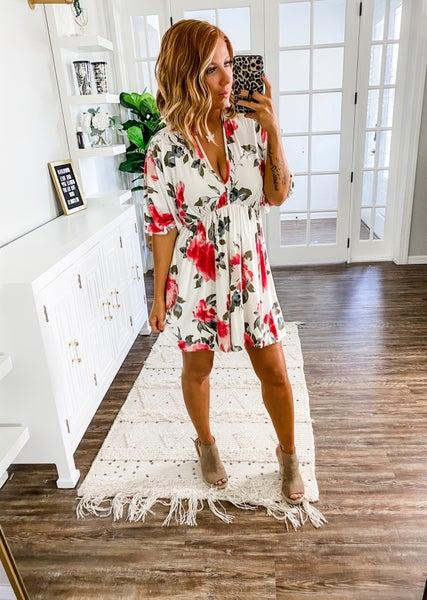 Natural Radiance Floral Dress