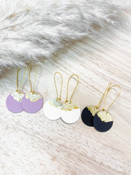 Gold Accent Drop Earrings