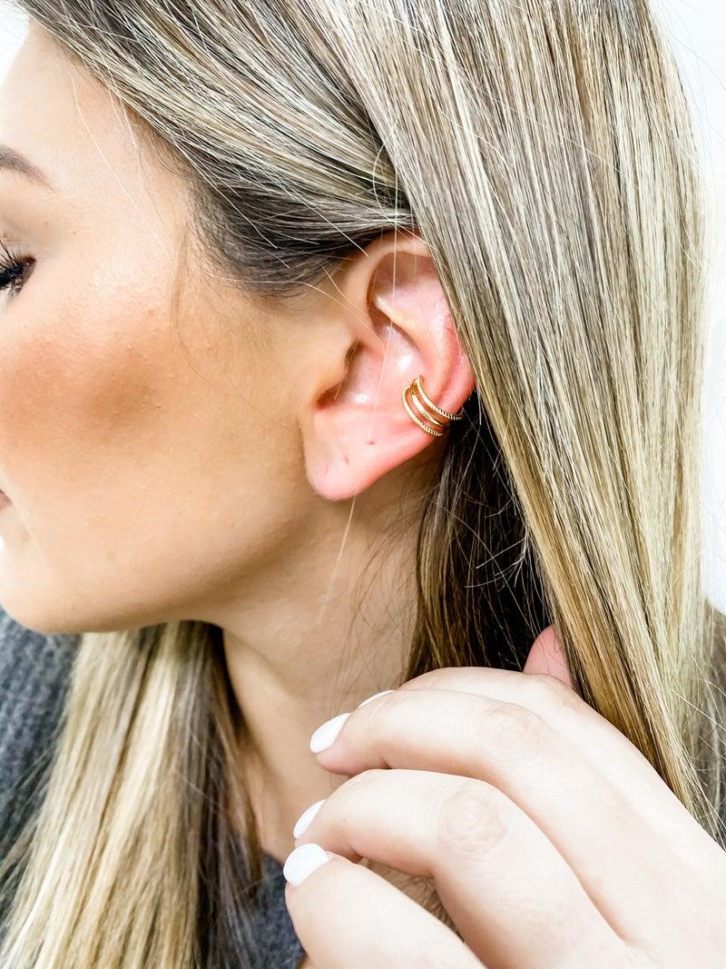 Cuff Sweetie Adjustable Gold Ear Cuff