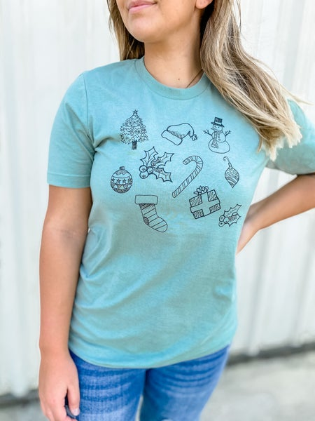 Christmas Doodles Graphic Tee