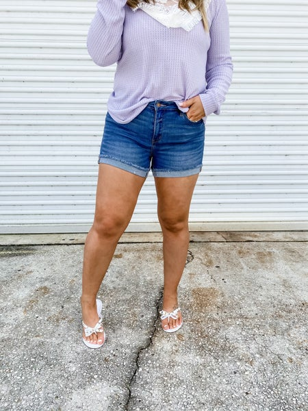 In Short Order Cuffed Judy Blue Shorts