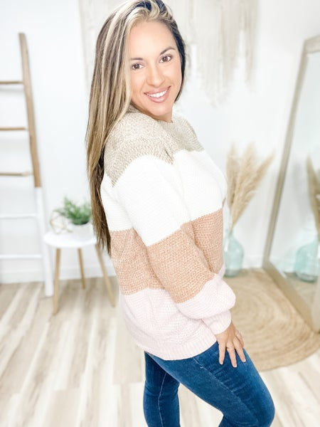 Always On The Move Mocha Sweater