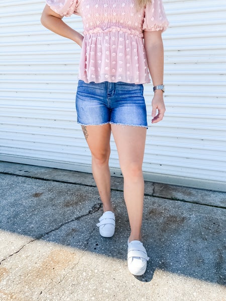 Side To Side Mid Rise Judy Blue Shorts