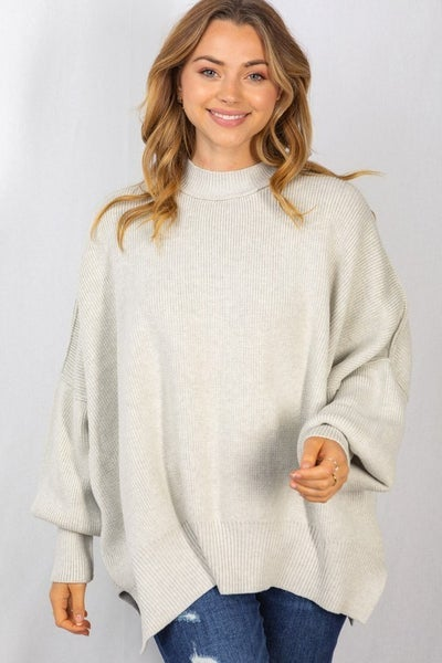 Cozy Occasions Grey Oversized Sweater