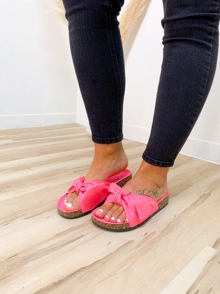 Hot Pink Bow Sandal