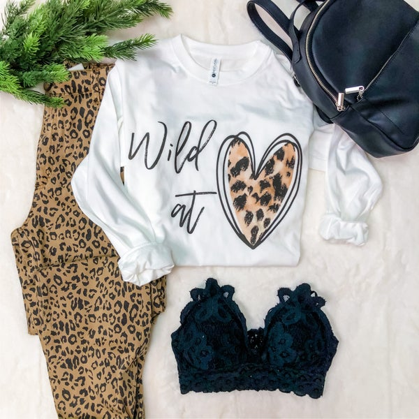 WILD AT HEART LONG SLEEVE GRAPHIC TEE