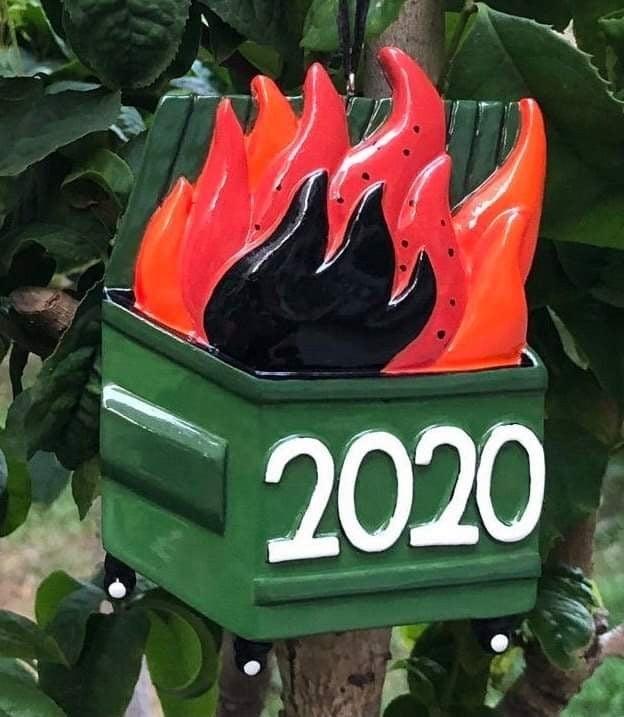 PRE ORDER dumpster fire ornament