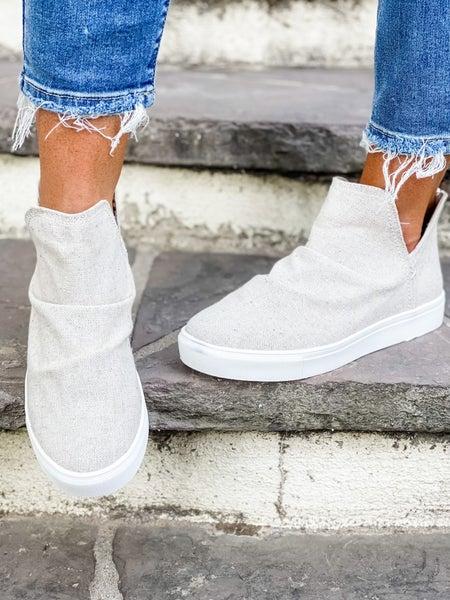 Natural High Top Zip Up Shoe