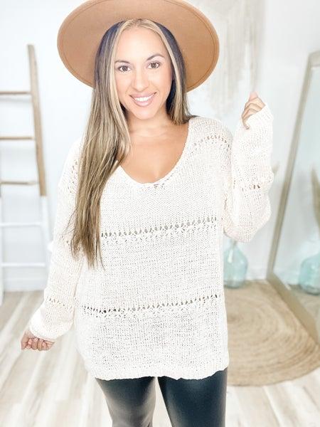 Falls Favorite Girl Natural Sweater