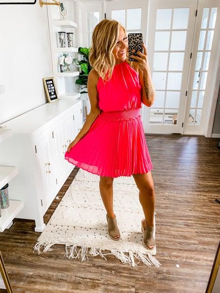 Smock Em Dead Hot Pink Dress