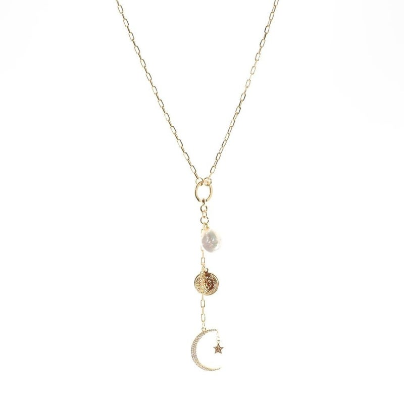 Into The Night Gold Necklace