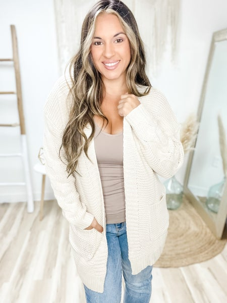 Give A Little More Cream Cardigan