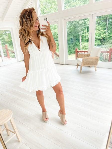 Tiered Apart Ivory Mini Dress
