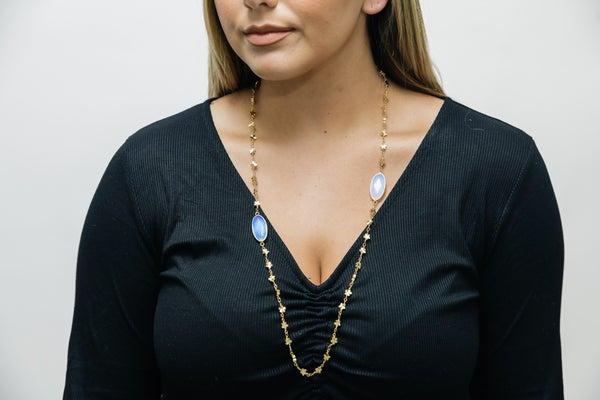 Gold Flower Chain Hespera Necklace