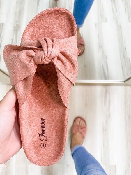 Mauve Bow Sandal