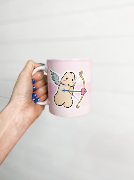 Censored Cupid Ceramic Mug