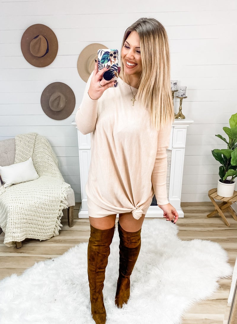 Keep It Natural Sweater Dress