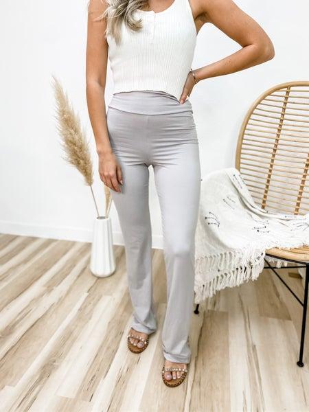 Running Straight To You Light Grey Yoga Pants