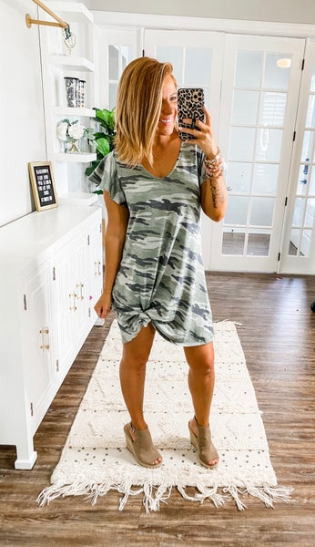 Catch Me If You Can Camo Dress