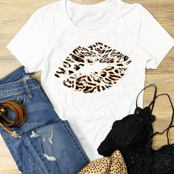 Leopard Lips Graphic Tee