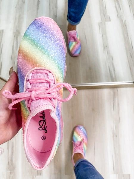 Glittery Rainbow Sneakers