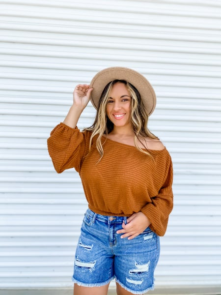 Let's Keep Things Casual Camel Top