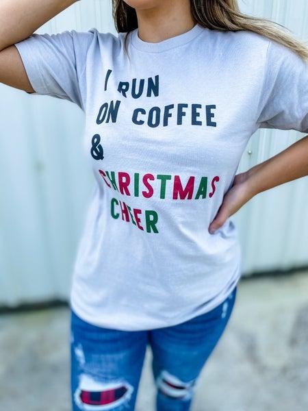 Coffee & Christmas Cheer Graphic Tee