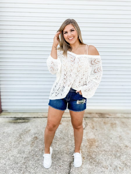 Hide Your Feelings Camo Patch Judy Blue Shorts