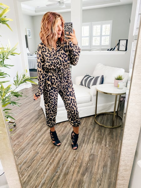 Take On The Day Leopard Jumpsuit