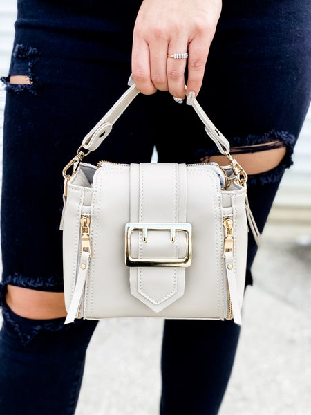 Tan Stitched Point Dandy Tote Bag