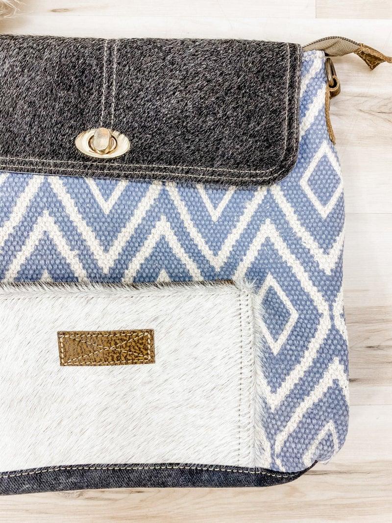 Grainy Gray Shoulder Bag