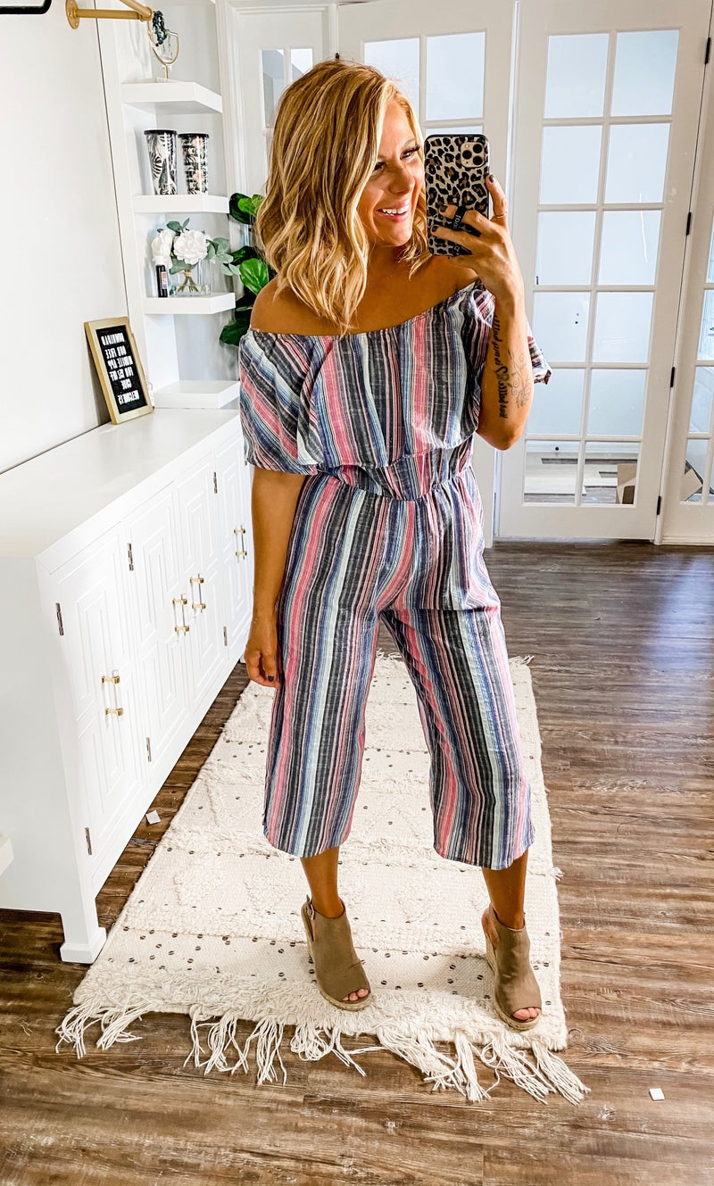 All I've Wanted Striped Jumpsuit